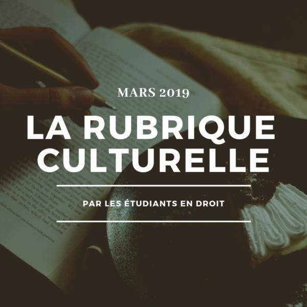 Rubrique culturelle